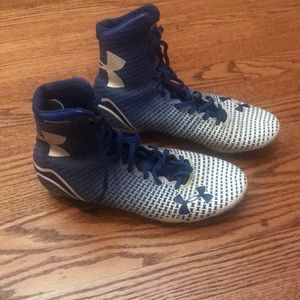 Under ARMOUR football cleats. Size 9